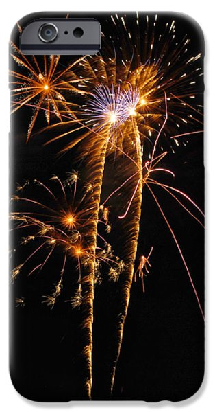 Fireworks 2 iPhone Case by Michael Peychich