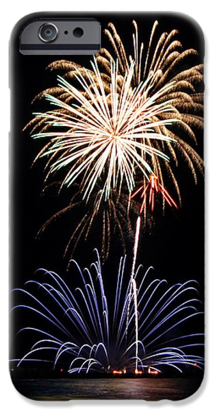 Fireworks iPhone Cases - Fireworks  Abound iPhone Case by Bill Pevlor
