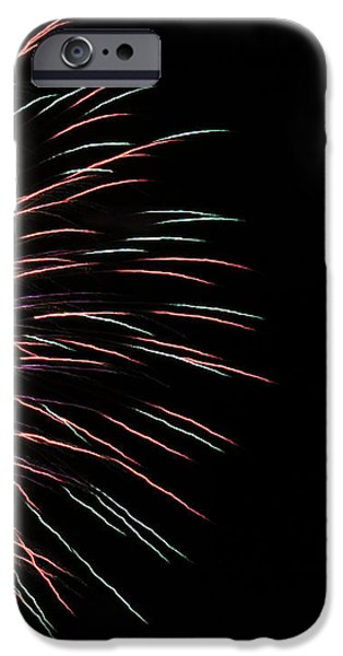 Fireworks iPhone Cases - Fireworks Abstract 1 iPhone Case by Marilyn Hunt