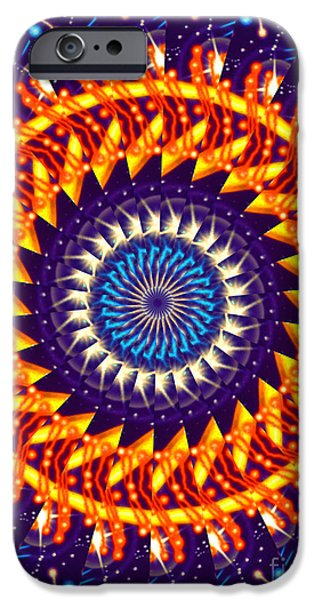 Blue Fireworks iPhone Cases - Fireworks iPhone Case by Cheryl Young