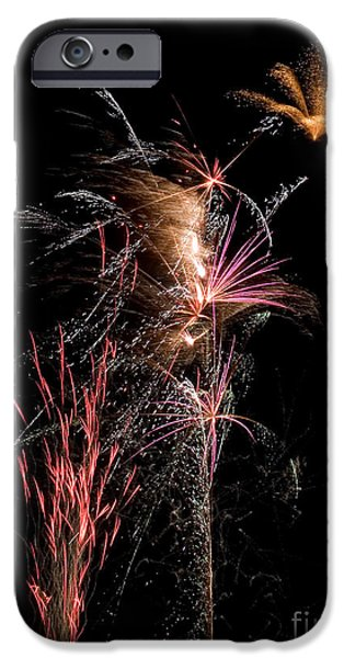 Fireworks iPhone Case by Cindy Singleton