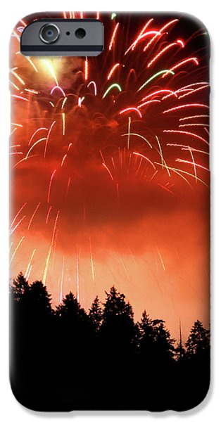 Fireworks from the Celebration of light in Vancouver 2011 iPhone Case by Pierre Leclerc Photography