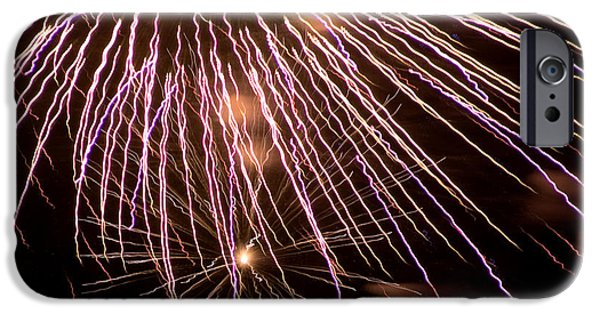 Fireworks iPhone Cases - Fireworks Fun 13 iPhone Case by Marilyn Hunt