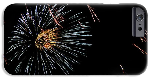 Fireworks iPhone Cases - Fireworks Fun 16 iPhone Case by Marilyn Hunt