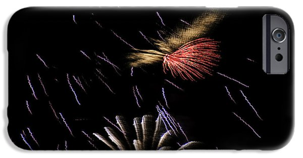 Fireworks iPhone Cases - Fireworks Fun 2 iPhone Case by Marilyn Hunt
