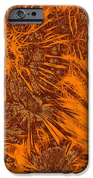 Firework Digital Art iPhone Cases - Fireworks Glow iPhone Case by Methune Hively
