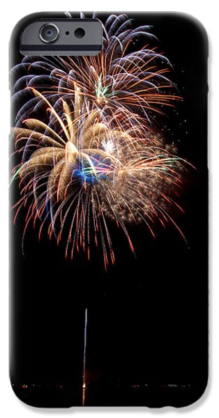 4th Of July iPhone Cases - Fireworks III iPhone Case by Christopher Holmes