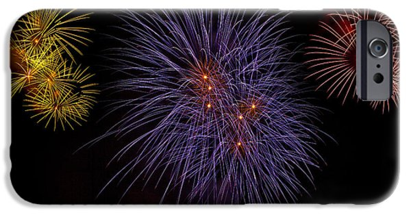 Pyrotechnics iPhone Cases - Fireworks iPhone Case by Joana Kruse