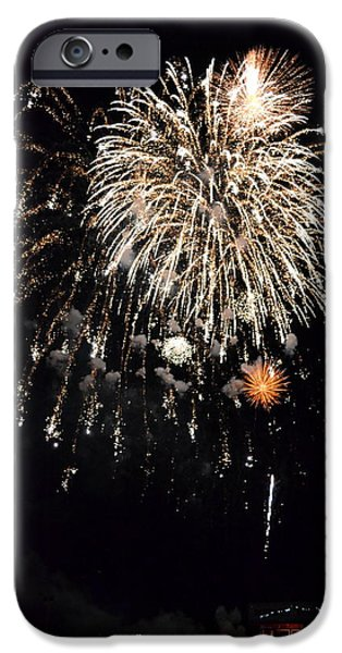 Fourth Of July iPhone Cases - Fireworks iPhone Case by Michelle Calkins