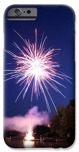 Fireworks iPhone Cases - Fireworks one iPhone Case by Ty Helbach