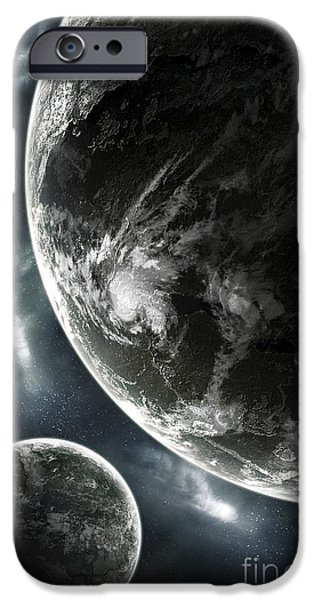 Terrestrial Sphere iPhone Cases - First Day On A Recently Colonized iPhone Case by Tomasz Dabrowski