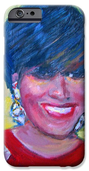 First Lady in Red iPhone Case by Patricia Taylor