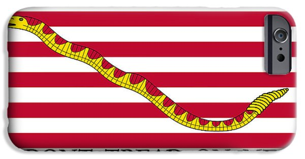 American History iPhone Cases - First Navy Jack iPhone Case by War Is Hell Store