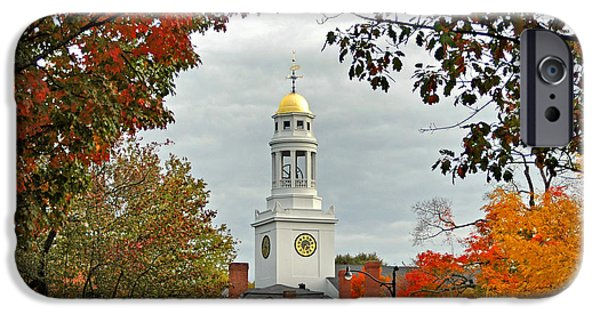 Concord Massachusetts iPhone Cases - First Parish Church iPhone Case by Joann Vitali