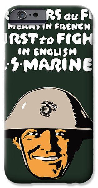 One iPhone Cases - First To Fight US Marines iPhone Case by War Is Hell Store