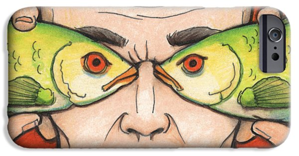Aceo iPhone Cases - Fish Eyes iPhone Case by Amy S Turner