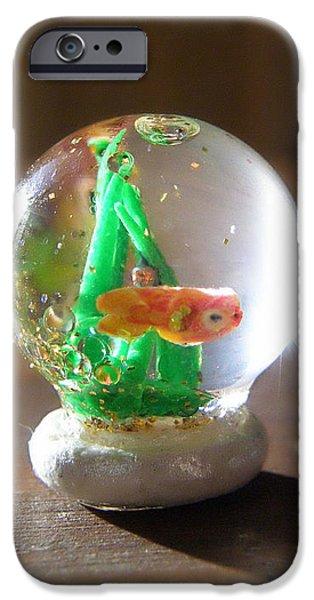 Fish Globe iPhone Case by Wendy McKennon