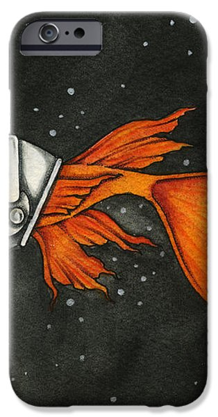 Fish In Space iPhone Case by Nora Blansett