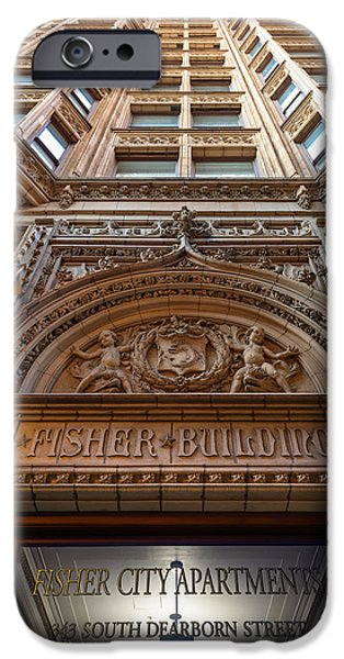 Daniel iPhone Cases - Fisher Building Chicago iPhone Case by Steve Gadomski