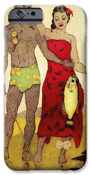 Youthful iPhone Cases - Fisherman iPhone Case by Hawaiian Legacy Archives - Printscapes