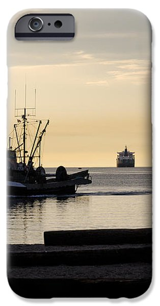 FISHERMAN HOME returning to port from the inside passage vancouver BC canada iPhone Case by Andy Smy