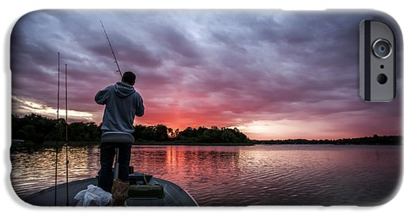 Cj iPhone Cases - Fisherman Sunset iPhone Case by CJ Schmit