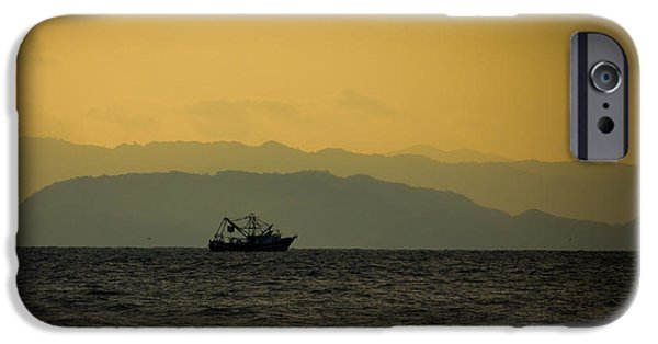 Jaco iPhone Cases - Fishing Boat at Sunset iPhone Case by Anthony Doudt