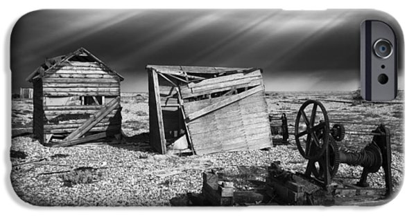 Machinery iPhone Cases - Fishing Boat Graveyard 4 iPhone Case by Meirion Matthias