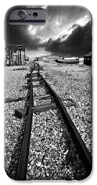 fishing boat graveyard 6 iPhone Case by Meirion Matthias