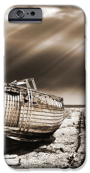 fishing boat graveyard 9 iPhone Case by Meirion Matthias