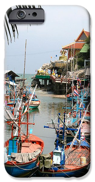 Buddhist iPhone Cases - Fishing Boats iPhone Case by Adrian Evans