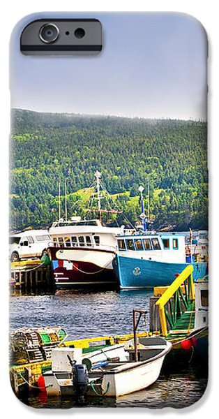 Fishing boats in Newfoundland iPhone Case by Elena Elisseeva