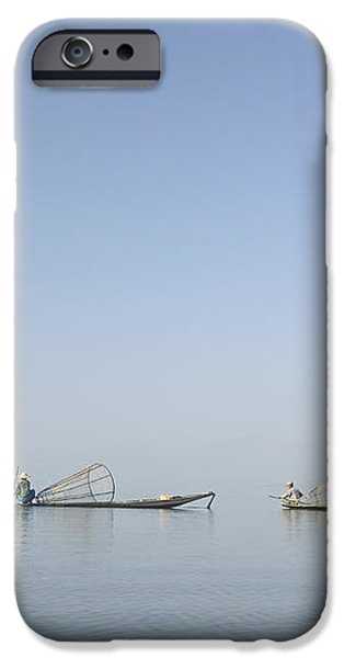 Fishing Boats, Inle Lake, Myanmar Burma iPhone Case by Huy Lam