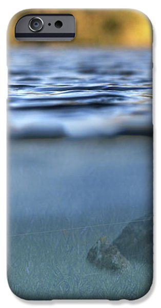 fishing lure in use iPhone Case by Meirion Matthias