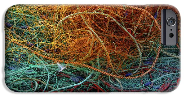 Mess iPhone Cases - Fishing nets iPhone Case by Carlos Caetano