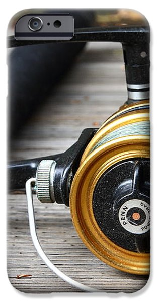 Fishing Rod and Reel . 7D13547 iPhone Case by Wingsdomain Art and Photography