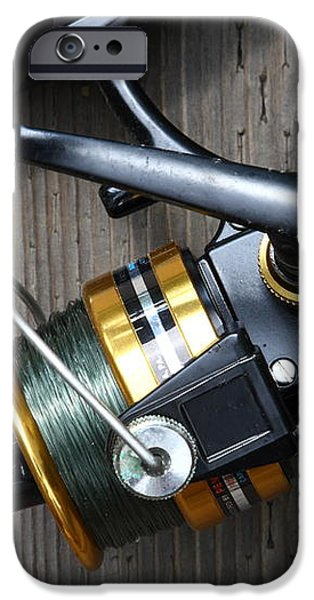 Fishing Rod and Reel . 7D13565 iPhone Case by Wingsdomain Art and Photography