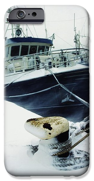 Economy iPhone Cases - Fishing Trawler, Howth Harbour, Co iPhone Case by The Irish Image Collection