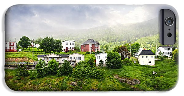 Newfoundland iPhone Cases - Fishing village in Newfoundland iPhone Case by Elena Elisseeva