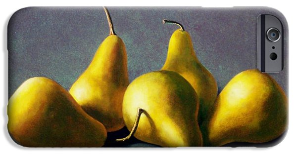 Food iPhone Cases - Five Golden pears iPhone Case by Frank Wilson