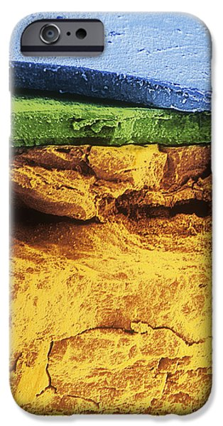 Electrolytic iPhone Cases - Flakes Of Rust iPhone Case by Dr Jeremy Burgess