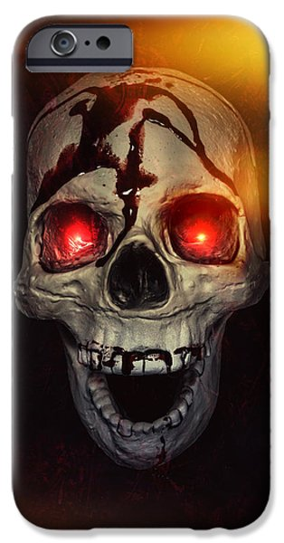 Fiery iPhone Cases - Flame Eyes iPhone Case by Joana Kruse