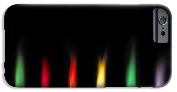 Laboratory Equipment iPhone Cases - Flame Test Sequence iPhone Case by