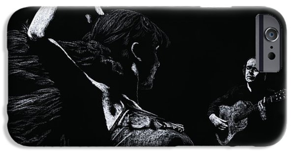 Lady Pastels iPhone Cases - Flamenco Recital iPhone Case by Richard Young