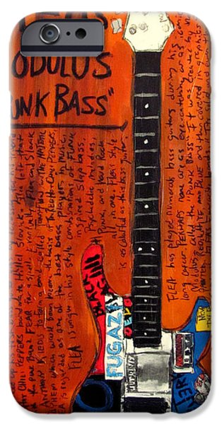 Red Hot Chili Peppers iPhone Cases - Flea Modulus Punk Bass iPhone Case by Karl Haglund