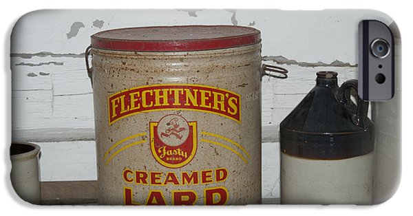 Crocks iPhone Cases - Flechtners Creamed Lard iPhone Case by Michael Peychich