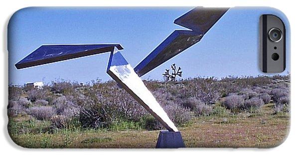 Abstract Movement Sculptures iPhone Cases - Flight  iPhone Case by John Neumann