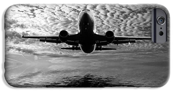 Aero iPhone Cases - Flight path 2 iPhone Case by Sharon Lisa Clarke