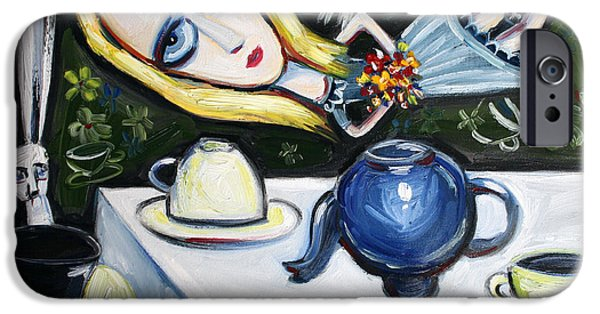 Alice In Wonderland iPhone Cases - Floating Above it All iPhone Case by Leanne Wilkes