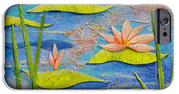 Best Sellers -  - Multimedia iPhone Cases - Floating Lilies iPhone Case by Carla Parris